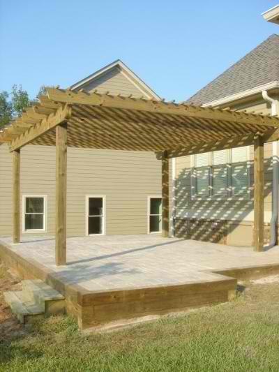 Providence, GA paver patio and pergola