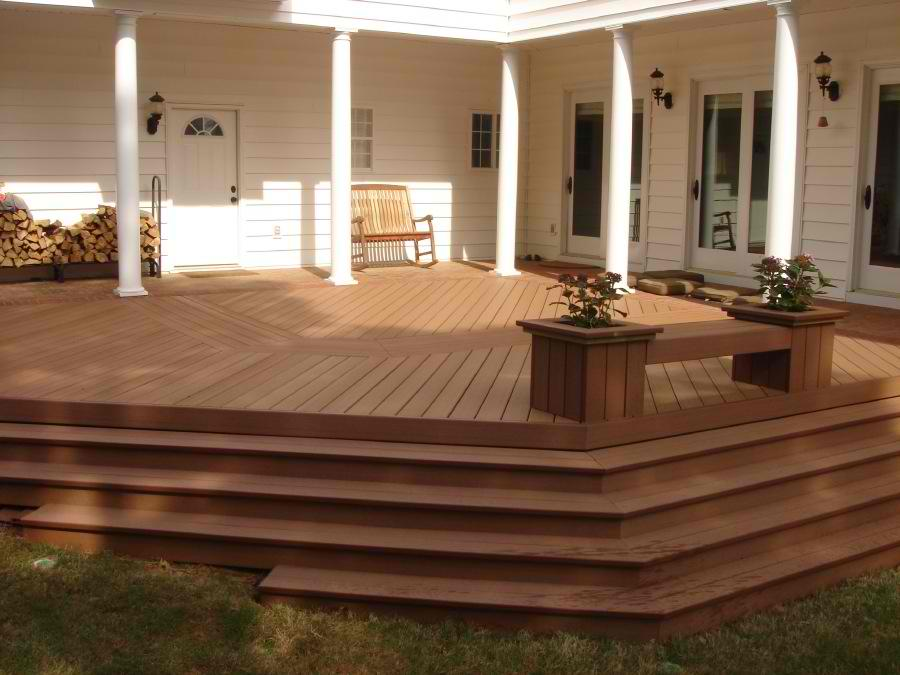 Trex transcends archadeck of central ga Composite flooring for decks