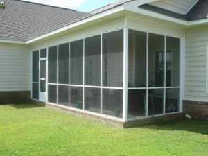 Screen porch transformation in Warner Robins