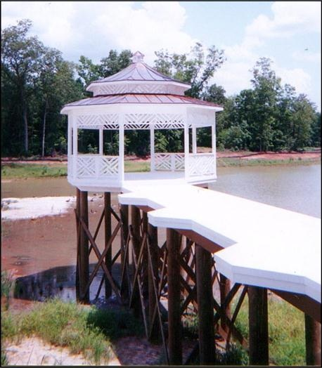 Dock and Gazebo in Fortsyth, GA