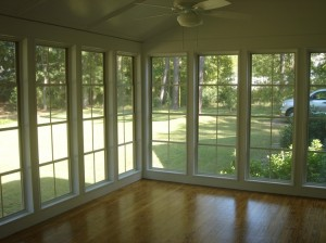 A 2-season room before decorating in Forsyth GA