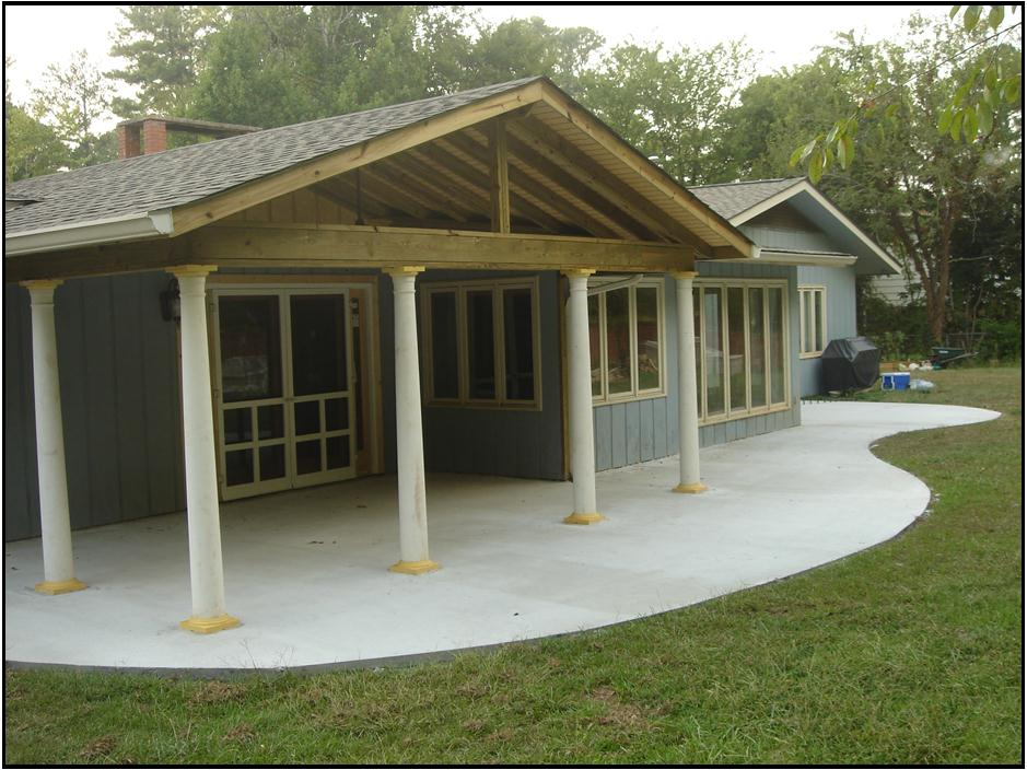 Warner robins screen porch archadeck of central ga for Deck roof plans