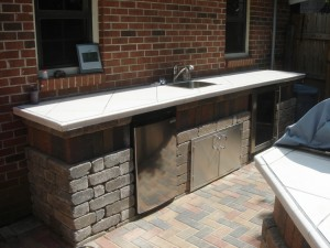 outdoor kitchen area-warner robins