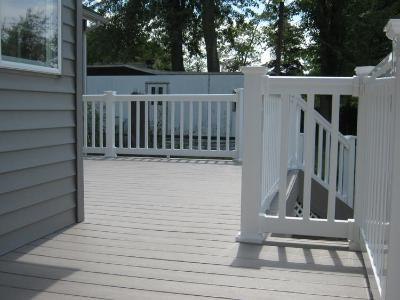 AZEK deck with white railing