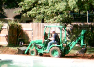 Preparing the site for a paver patio