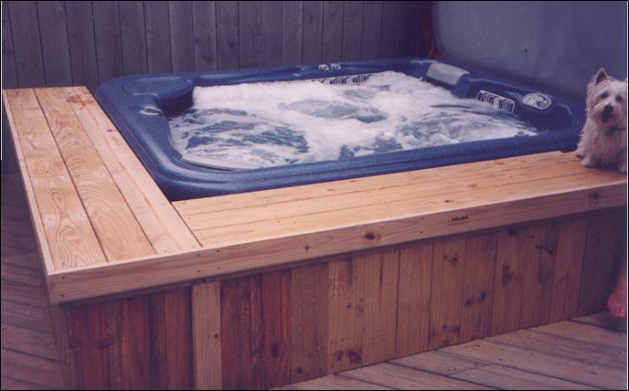 Centerville Ga Bench Height Hot Tub Decks Archadeck Of Central Ga