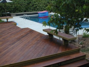 Ipe pool deck in Macon GA by Archadeck of Central GA