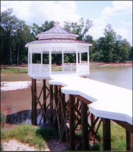 Gazebo at the end of a dock in Forsyth GA