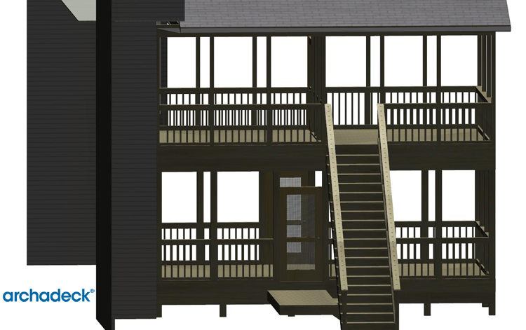 Forsyth GA screen porch design rendering Archadeck
