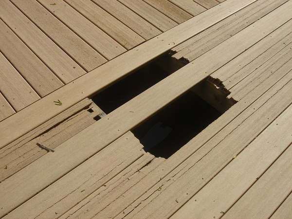 bad composite decking