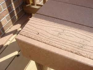 defective synthetic decking