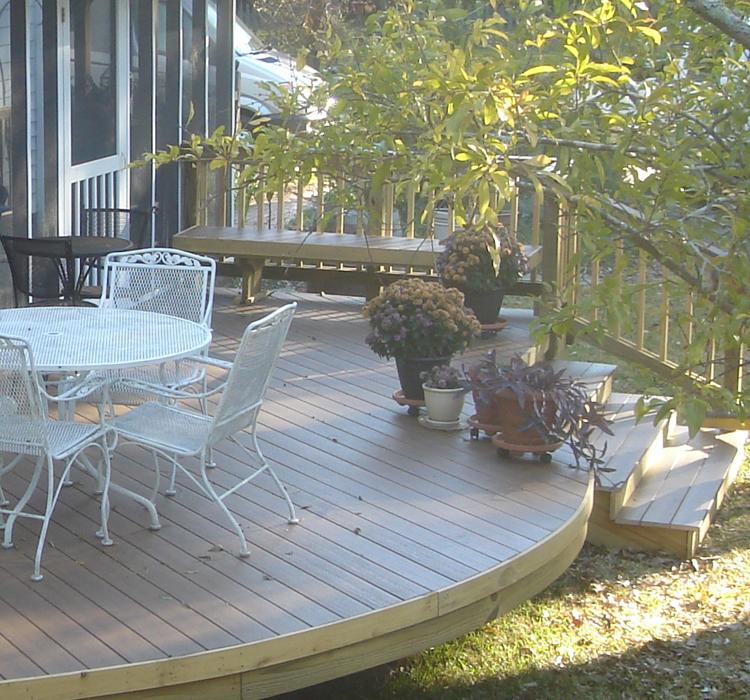 Archadeck Central GA round deck