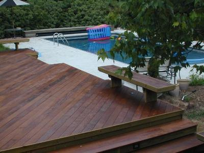 Ipe Deck at the pool in Warner Robins GA