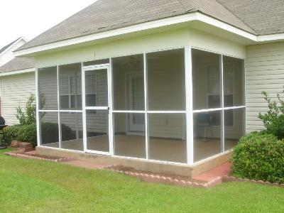 Screen Porch Warner Robins with hip roof