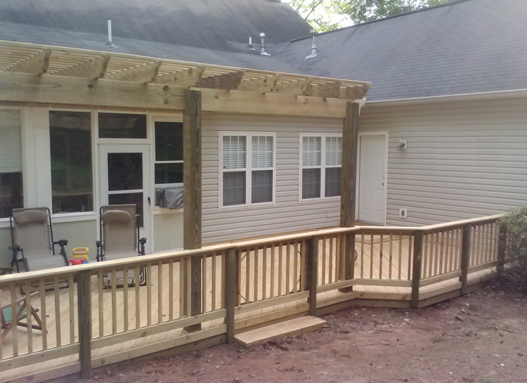 Low to grade Deck Macon GA