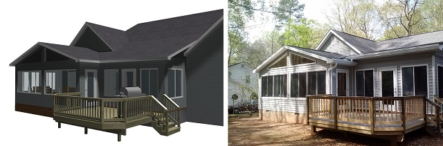Macon GA sunroom and deck