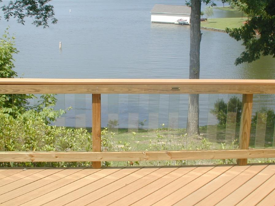 Glass Railing on Lake Oconee lake deck by Archadeck of Central GA