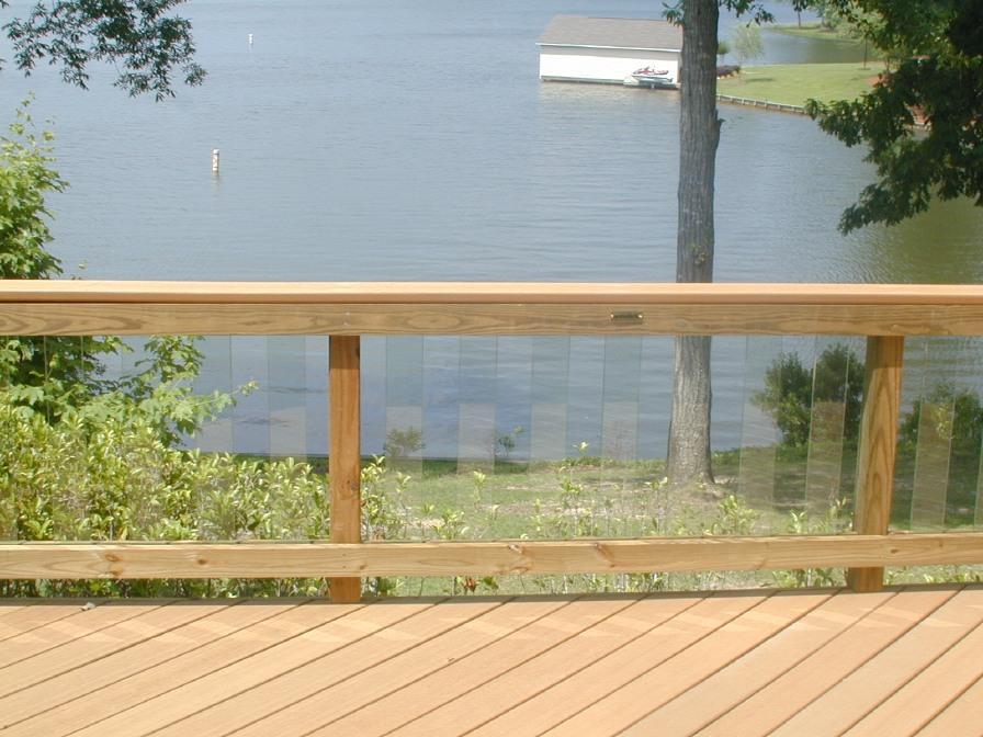 Glass Railing On Lake Oconee Lake Deck By Archadeck Of