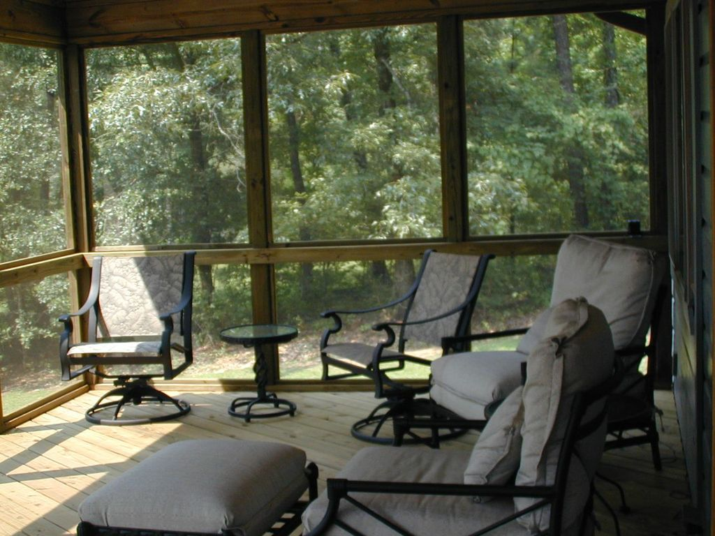 Screened porch on Lake Sinclair by Archadeck of Central GA