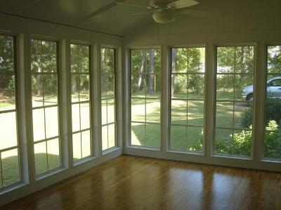 Archadeck of central ga takes the screen porch through the for Screen new window