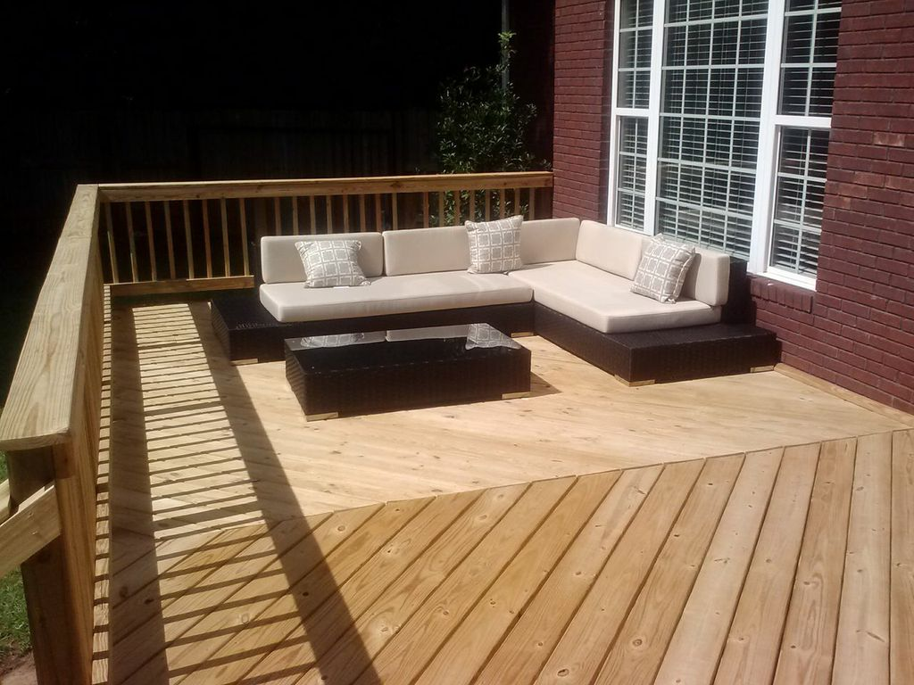 Deck for future porch in St. Croix Macon GA