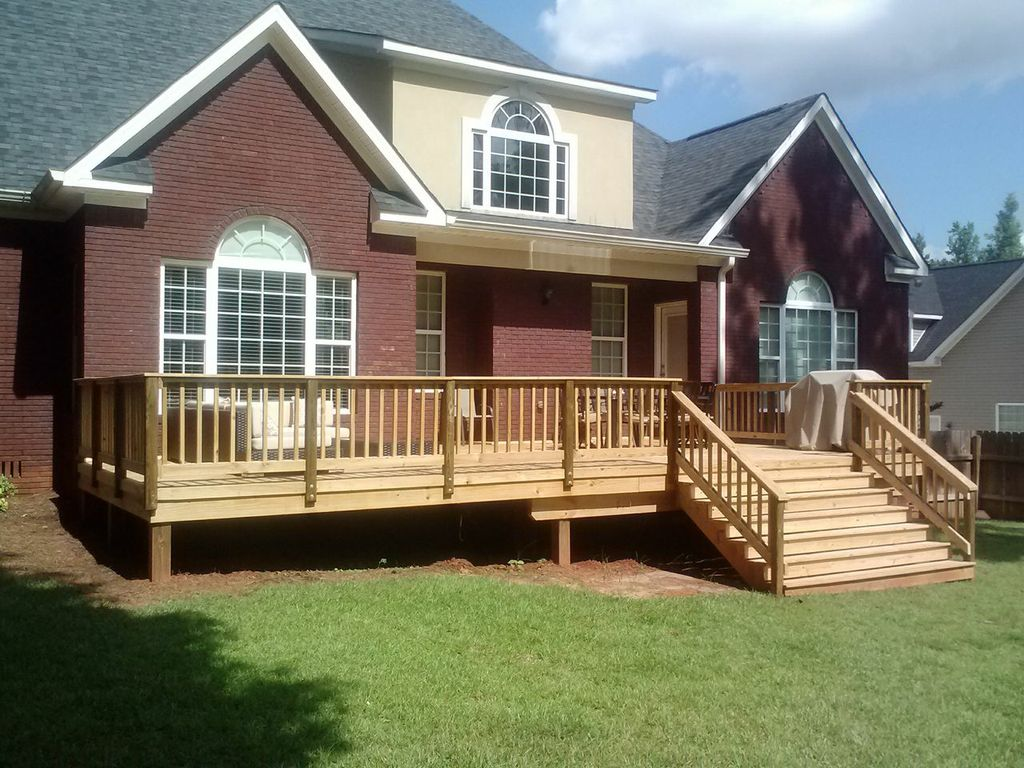 Deck project in St. Croix Macon GA