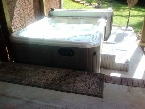 Hot tub patio space in Macon GA