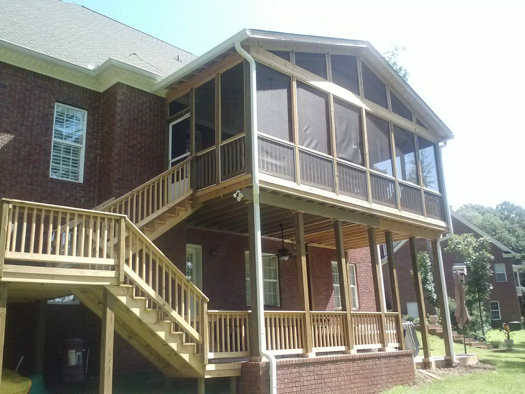 Screened porch and lower patio in Macon GA