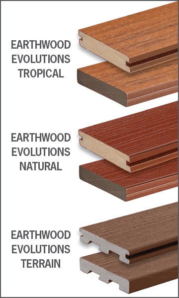 TimberTech Earthwood Evolutions line of Capstock decking