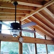 Interior of screened porch by Archadeck of Central GA