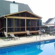 Poolside outdoor structure design and builder Central GA