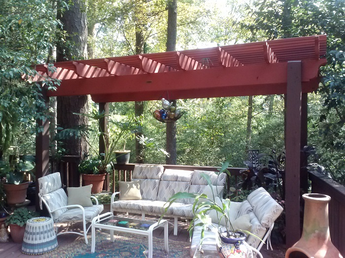 Nottingham in Macon unique pergola and deck by Archadeck of Central GA