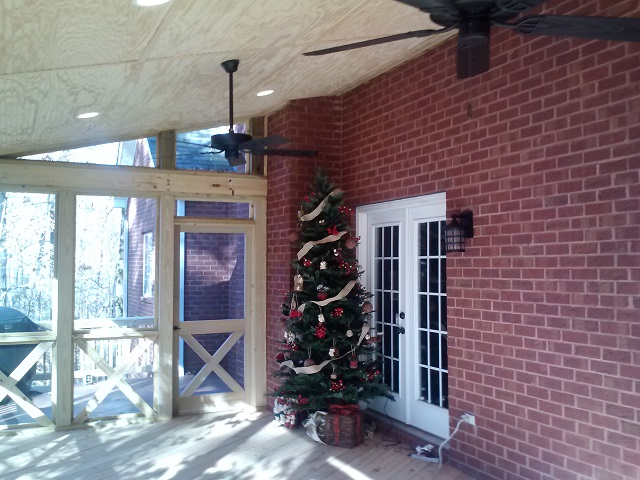 Home for the holidays with Archadeck of Central GA screened porches