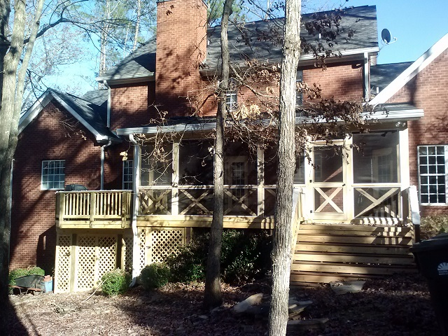 Macon GA Westchester screened porch and deck builders