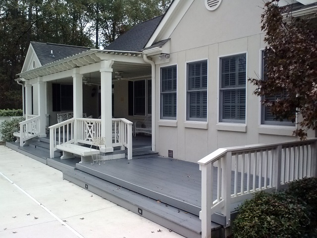 Perry GA double deck and pergola combination