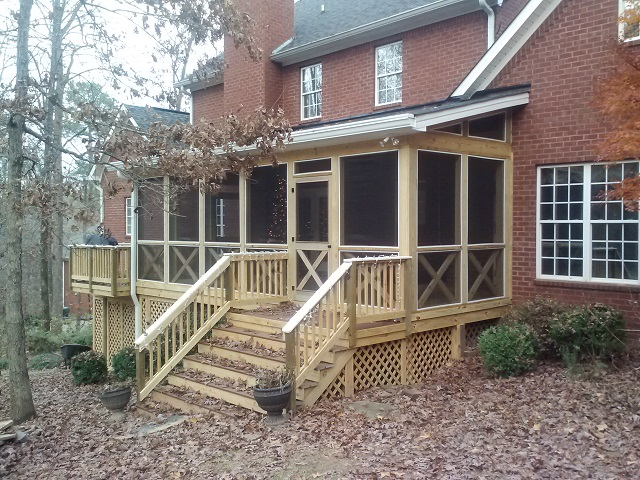 Westchester Subd. Macon GA porch builders