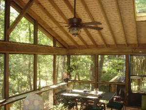 Macon GA screened porch with gable roof