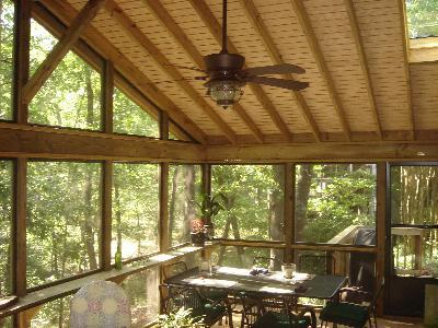 Central Ga Vaulted Ceiling Screened Porches Archadeck Of
