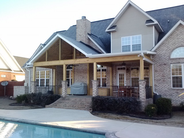 Poolside open porch in Warner Robins GA