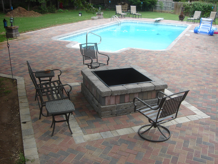 Paver Patio Pool Patio Hardscape Warner Robins
