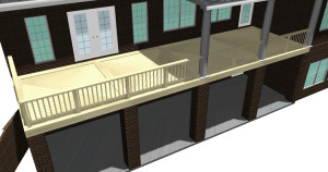 This stunning balcony deck will be include both Ipe and Garapa