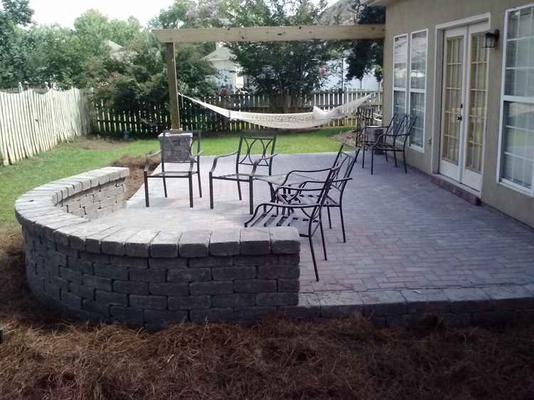 Delightful Paver Patio Macon Hammock Lr