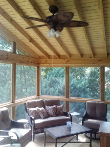 Screened Porch-Centerville-GA cathedral ceiling