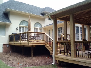 Macon open porch builder with pavilion lr
