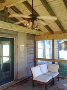 rustic screened porch Juliette GA lr