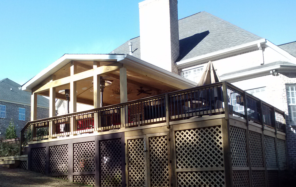 Macon covered porch with TimberTech decks