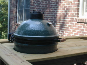 Green egg-Macon GA-deck