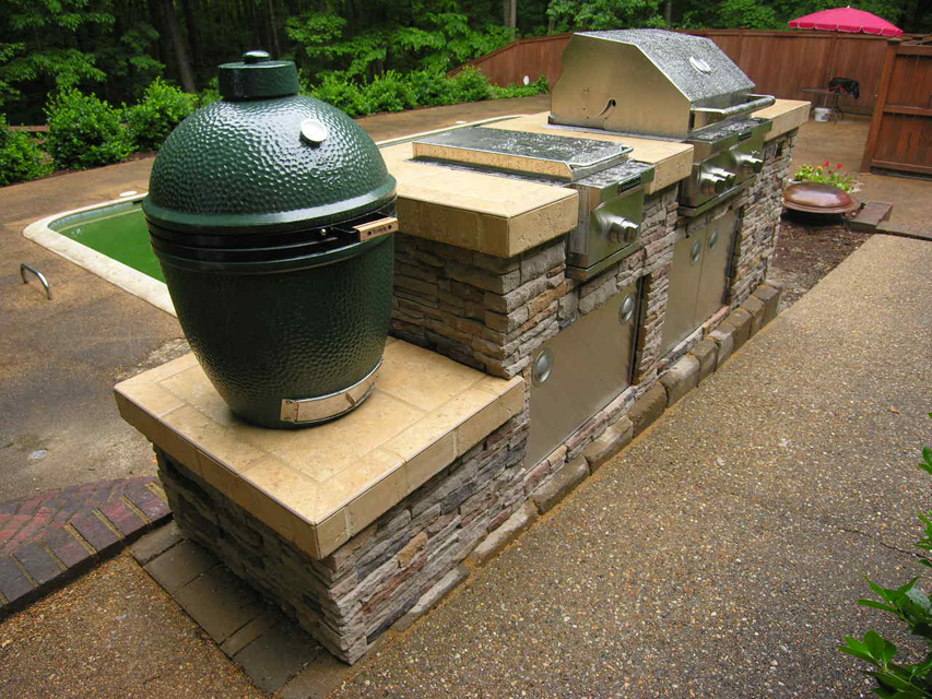 macon GA-green egg-outdoor kitchen lr & Outdoor kitchen | Archadeck of Central GA
