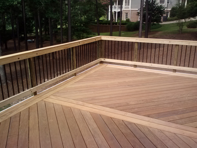 Garapa and Ipe Brazilian hardwood deck Forsyth GA by Archadeck lr
