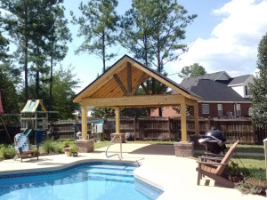 Macon GA pool pavilion open porch lr